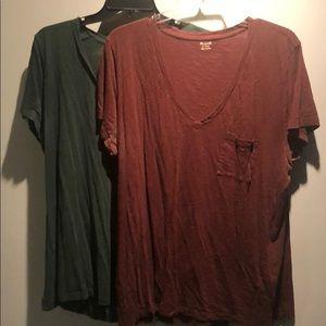 Madewell v-neck pocket shirts